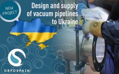 Diseño y suministro de tuberías aisladas al vacío para Ucrania