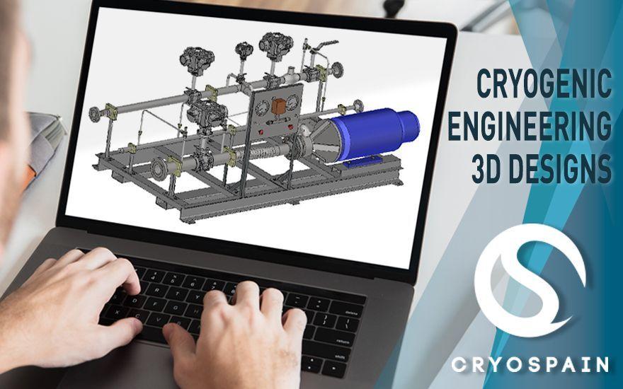 Diseños de ingeniería criogénica en 3D