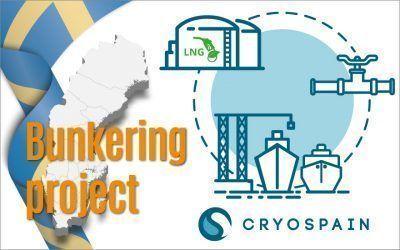 Diseño y fabricación de 2000m de tubería criogénica para una planta bunkering GNL en Suecia