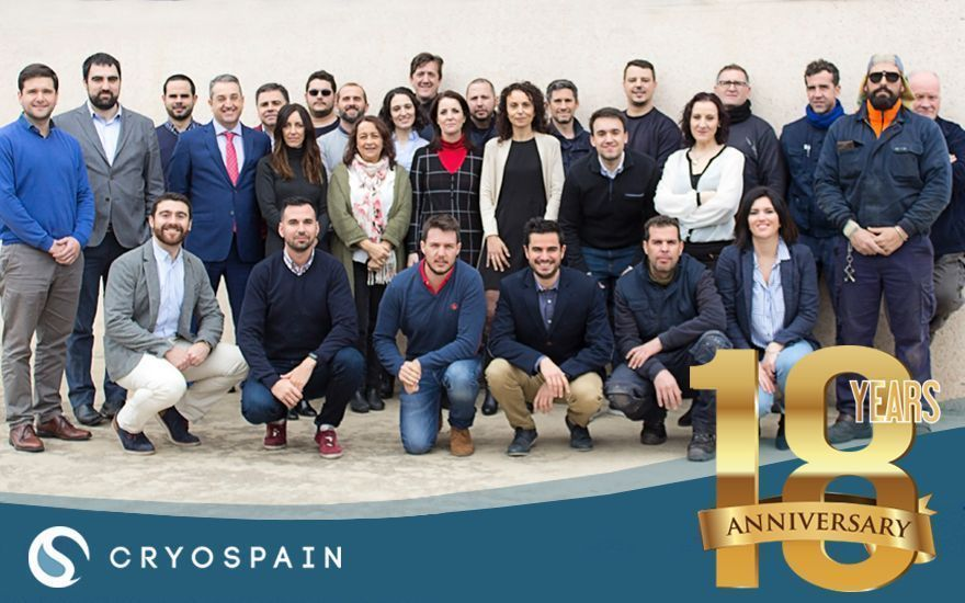 Spanish Cryogenics company Cryospain turns 18