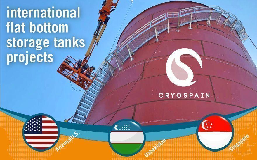 Internationa projects: Cryogenic flat-bottom tanks