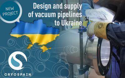Destination: Ukraine! Cryogenic piping design and supply