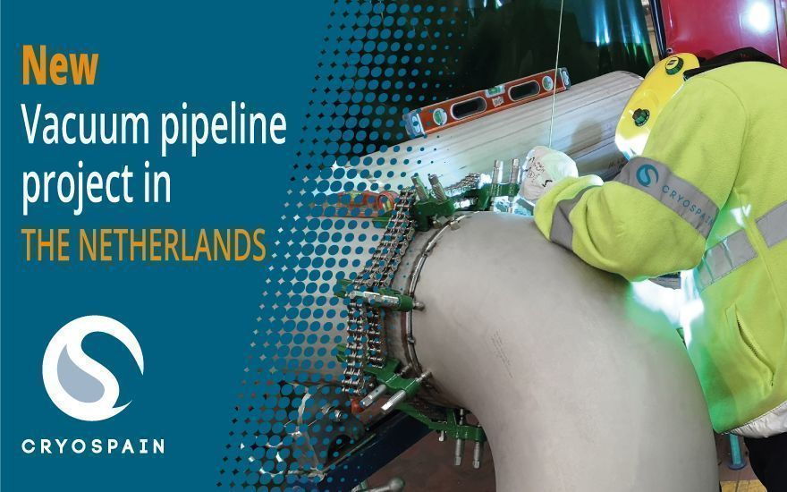 Cryogenic vacuum-insulated pipeline project in the Netherlands