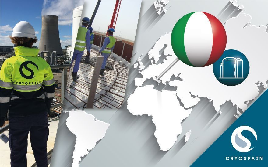 Cryospain's latest project: New liquid storage tank in Italy