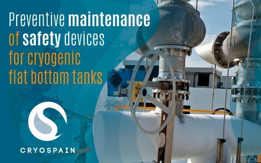 Preventive maintenance for cryogenic flat-bottom tanks